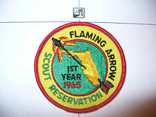 1965 Camp Flaming Arrow, 1st Year Patch,pp, Gulf Ridge Council,OA 85 Seminole,FL