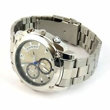 1080P 8GB Spy Wrist Watch Covert Camera Surveillance IR Night Vision DVR Silver