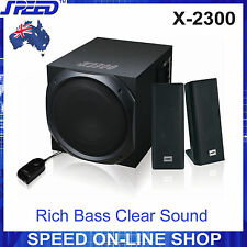 Speed X-2300 2.1 Stereo Speakers 50w RMS for Laptop Desktop PC iPhone - 240v
