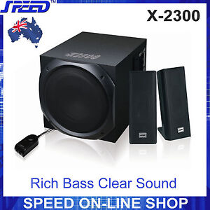 SPEED X-2300 2.1 Stereo Speaker Systems (240V) for Desktop PC, MP3, iPad, iPhone