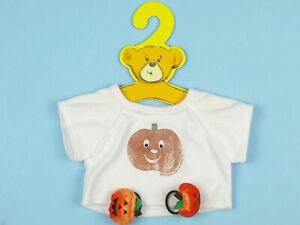 Build-A-Bear BAB HALLOWEEN T-SHIRT Jack O Lantern Pumpkin Bows