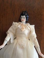 "Cathy Hansen American Artist Rare 6 1/4"" China Lady Miniature Doll"