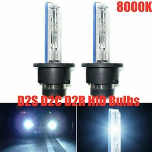 2X 55W D2S D2R D2C HID Xenon Headlight Bulbs Kit Lamp Low Beam 8000K LIGHT BLUE