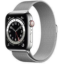 Apple Watch Series 6 44mm GPS + Cellular Smartwatch - Silver (M07M3LL/A)