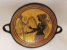 Erato Greek Muse Rare Hellenic Ancient Art Pottery Tray Kylix