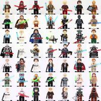 Star Wars Minifigures Jedi Yoda Han Solo Clone Obi-Wan Skywalker Blocks Lego Toy