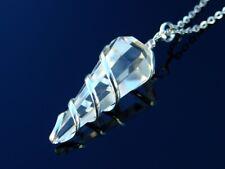 Clear Quartz Natural Gemstone Point Pendulum Necklace Crystal Reiki Chakra