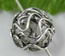 Wholesale 10/24Pcs Tibetan Silver  Hollow ball Spacer Beads 12mm(Lead-free)