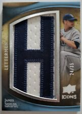 James Shields 2009 UD Icons Lettermen Letter H 24/35 Tampa Bay Rays