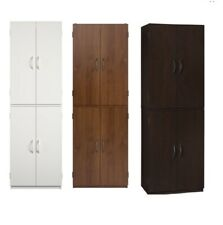 "Kitchen Pantry Storage Cabinet Cupboard Organizer Wood Tall Shelves 4 Door, 60""H"