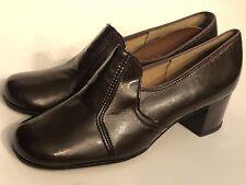 Charm Step Vintage Size 6 M Dark Brown Heels Pumps 60's 70's Mod Dead Stock