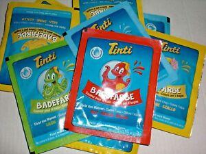Badefarbe Tinti, 3 verschiedene Farben je 4,5g Badespaß für Kinder färbt Wasser