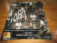 2000 KORN Issues Promo Poster JONATHAN DAVIS Fieldy MUNKY Head DAVID SILVERIA