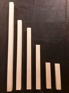 4 x Möbelfuß Tischbein Buche 55x55x 650mm-1000mm Drechselholz gehobelt Kantholz