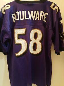 VINTAGE PETER BOULWARE #58 BALTIMORE RAVENS NFL STARTER JERSEY YOUTH LARGE