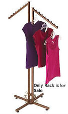 2 Way Clothing Rack in Cobblestone 48-72H Inches with Slant Arms