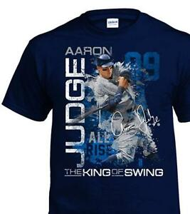Aaron Judge New York Yankees MLB All Rise 100% Cotton Navy Graphic T-Shirt