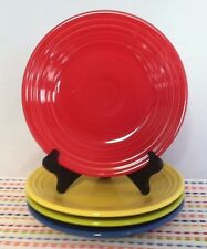 Fiestaware Lunch Plates Lot of 4 Multi Color Brights Fiesta 9 inch Luncheon