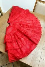 Christmas Tree Skirt Metallic Red