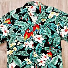 New listing Vintage Hawaii Hawaiian Parrot Camp Shirt Retro Floral Tropical Usa Made Vgc L