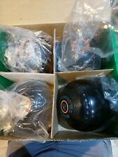 Set of Four ALMARK CRUSADER 2 Lawn Bowls, Size 2H. Used