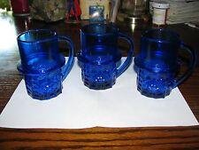 Vintage MR PEANUT - Blue Depression Glass Mug!!  Planters Great Shape!!