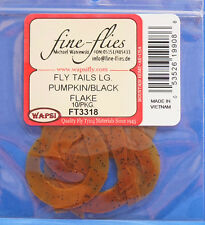 FLY Tails LARGE Wapsi USA in silicone 10 pezzi Pumpkin/BLACK FLAKE