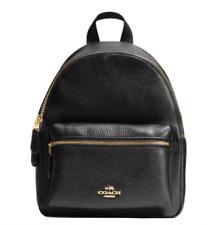 New Coach F28995 Charlie Pebble Leather MINI Backpack Shoulder Bag Black