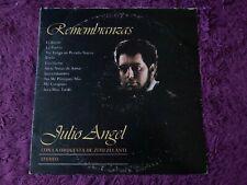 Julio Angel – Remembranzas Vinyl LP Puerto Rico 1977  SIGNED BY THE ARTIST