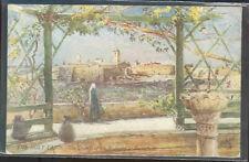 pc6467 postcard Holy Land Church of Bethlehem message on back Tuck's Oilette