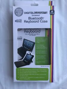 """Digital Gadgets Universal Bluetooth Keyboard Case, for 10"""" Tablets and iPad Blue"""