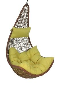Large Lime Cushion For Hanging Egg/Swing Chair W/ Head Rest *CHAIR NOT INCLUDED