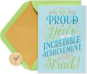 Papyrus Graduation Card -So proud of your incredible achievement grad!