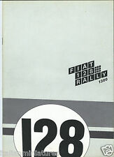 Fiat 128 Rally 1300 Original Brochure Prospekt Catalog Spanish Language 1971
