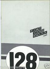 Fiat 128 Rally 1300 Original Brochure Prospekt Catalog Spanish Language 1971