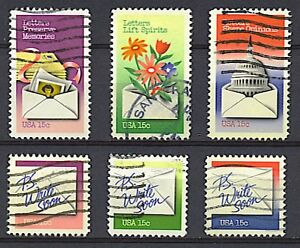 Scott #1805-10 Used Set of Six, Letter Writing Stamps