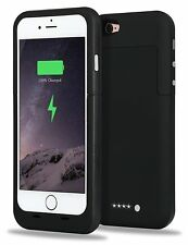 "Iphone 6 4.7"" Extended Power Charger External Battery Plus Case/Cover Black New"