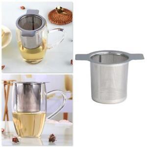 Mesh Tea Infuser Strainer Leaf Filter Leaks Sieve Metal Cup With