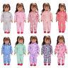 Süße Schlafanzug Pyjama Nachthemd Kleidung für 45.7cm Our Generation American