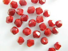 Bulk 100Pcs Assorted Color Crystal Glass Faceted Bicone Spacer Beads Finding 4mm