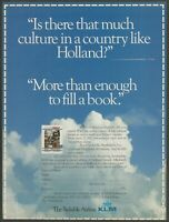 KLM Royal Dutch Airlines - Culture in Holland - 1988 Vintage Print Ad
