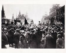 Leon Trotsky Moscow square 1919 Original Postérieur 1990