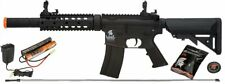 Lancer Tactical M4 GEN 2 SD Airsoft Gun Rifle AEG Metal Gears Raider 9.6v Black