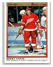 (HCW) 1990-91 OPC Premier #31 Brent Fedyk RC Rookie Red Wings Mint