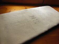 ancienne nappe damassé en lin monogramme MS  1 m 54 sur 2 m 25
