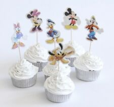 NEW Mickey Mouse & Friends Theme Character Cupcake Toppers x 24 - For Parties