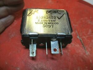 CHEVROLET-GMC BLAZER- C/K/R/V-10,20-30-REAR WINDOW DEFROSTER  RELAY-OEM 15982652