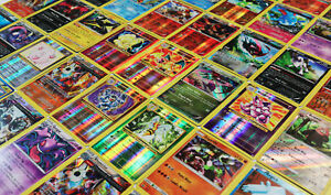 Pokemon TCG : 100 CARD LOT Rare Common Uncommon GUARANTEED RARE + HOLO CARDS!!