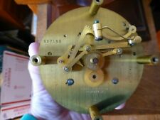 working clean Chelsea pilot ship's clock and barometer with bases, 1947 + key