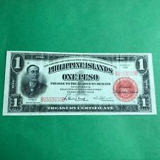 1924 PHILIPPINES TREASURY CERTIFICATE ONE PESO ACTING TREASURER B2553900B P-68a